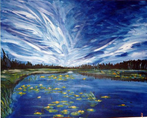 How To Paint A Sky Blue Acrylic Painting