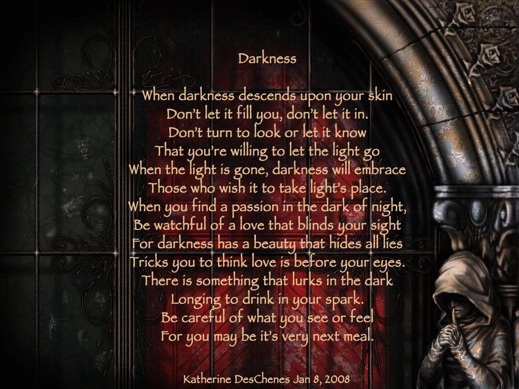 gothic literature poems