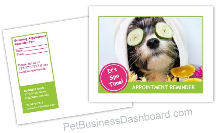 Dog Grooming Postcard Templates Bundle 17 Postcard Template Pet Businesses Standard Business Card Size