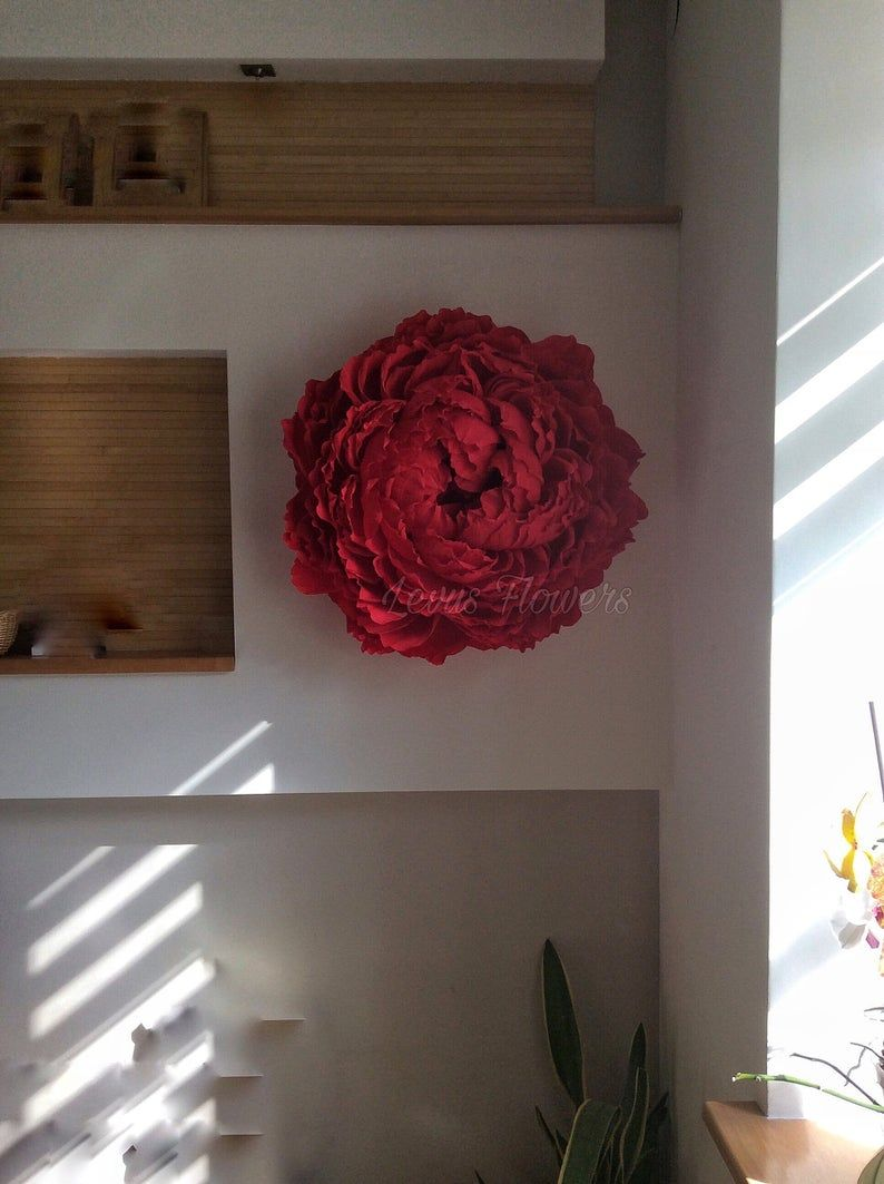 Large crepe paper flowers/Giant paper flowers/Wedding decoration/Home decor/Wall decor/Large paper flowers/Large red peony/Backdrop flowers