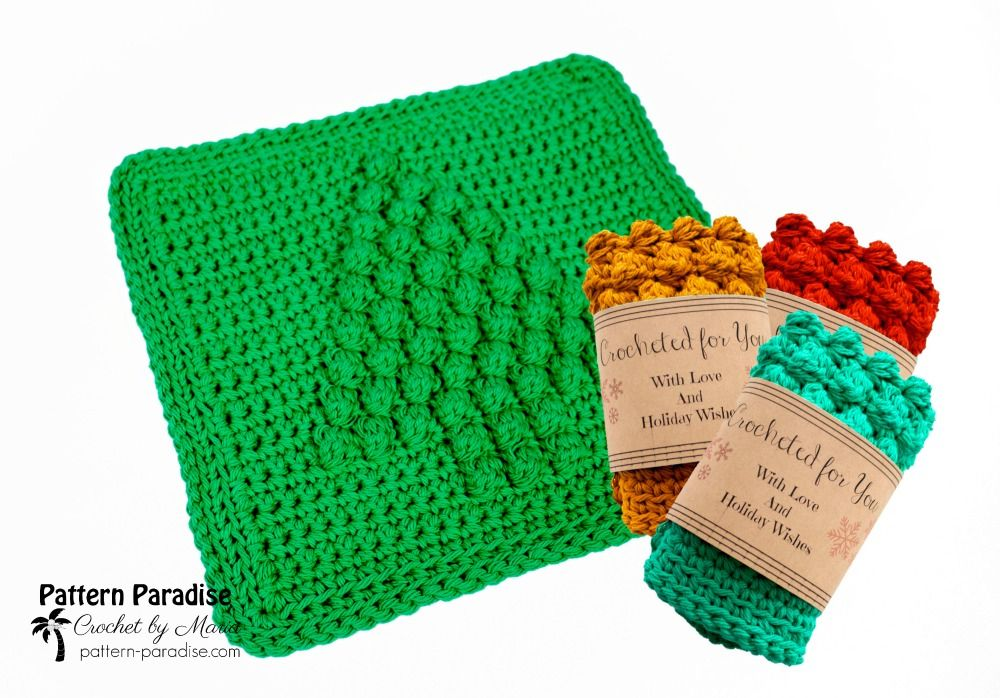 Free Crochet Pattern Christmas Tree Dish Cloth Dishcloth Crochet Pattern Dishcloth Patterns Free Dishcloth Pattern