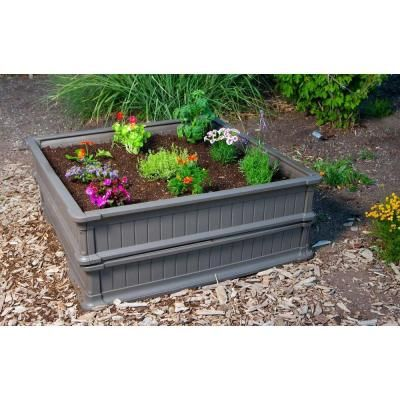 Lifetime 4 Ft X 4 Ft Two Raised Garden Beds With One Tent