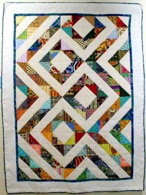 African Quilt by Lilian Sore (great use of wax prints) by rob.roberts