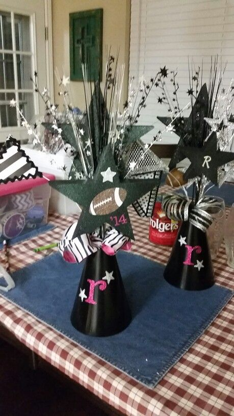 Megaphone centerpieces jenn s hot mess pinterest