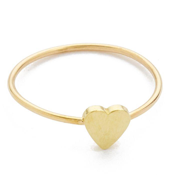748c6f81291c21 Jennifer Meyer Jewelry 18k Gold Mini Heart Ring   Products   Gold ...