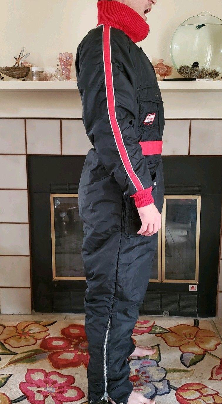 cc5dd568186e6 Vintage Scorpion Wear Ski Snowmobile Snowsuit Black Red Size Mens Size XL  Tall