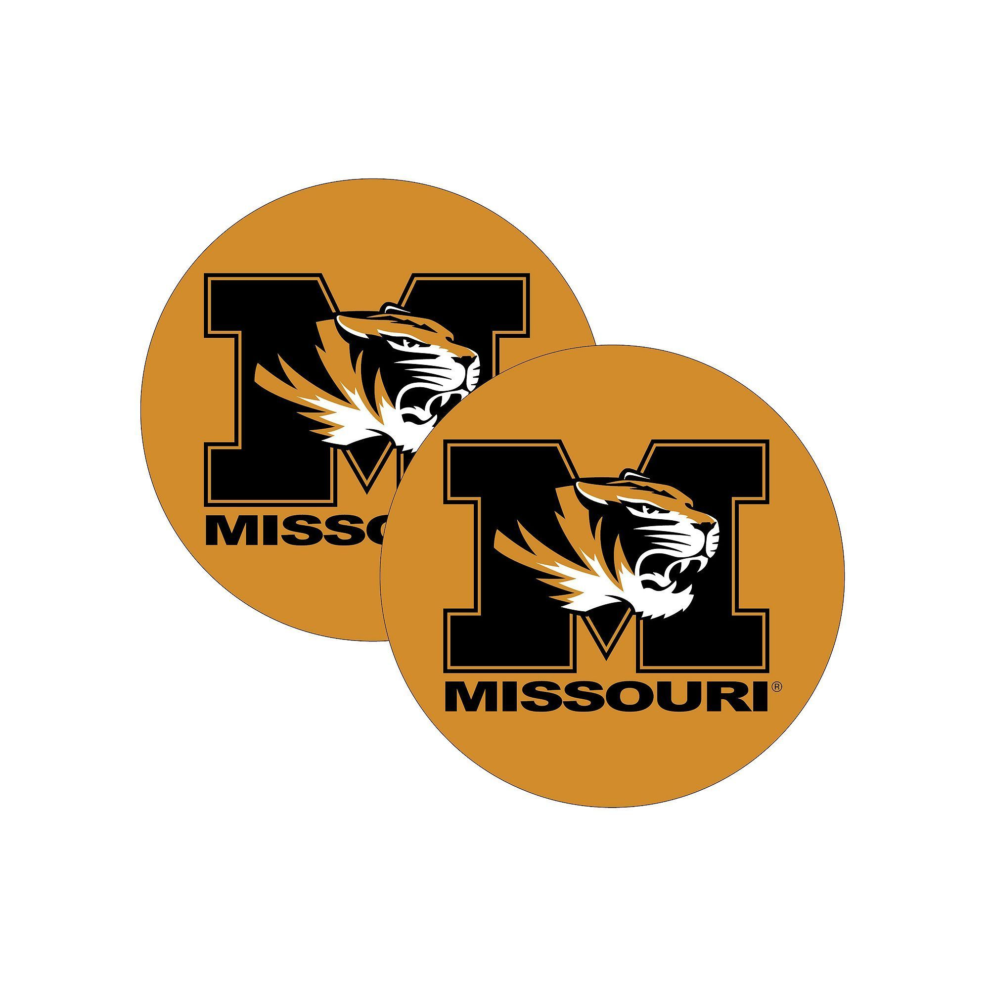 Missouri Tigers 2-Pack Large Peel & Stick Decals, Multicolor
