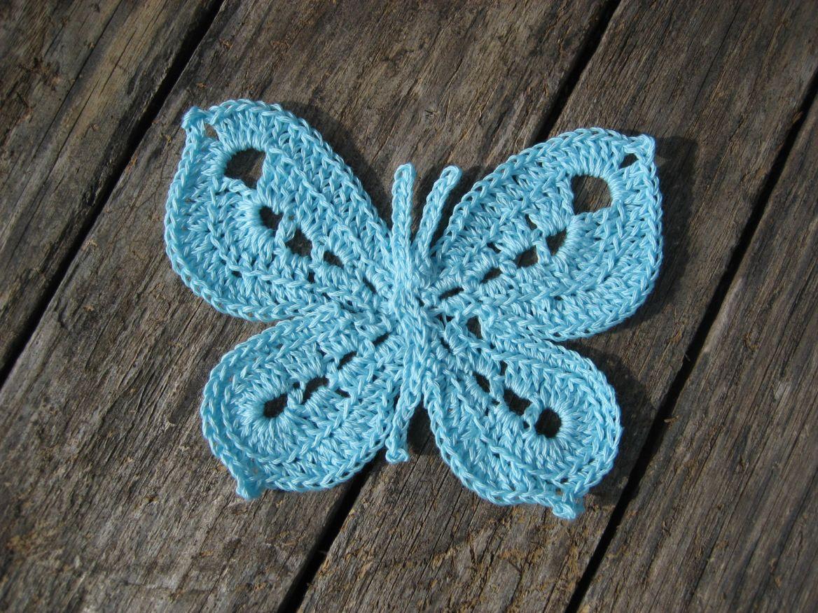 CROCHET BUTTERFLY – PATTERN | Crochet butterfly, Butterfly and Crochet