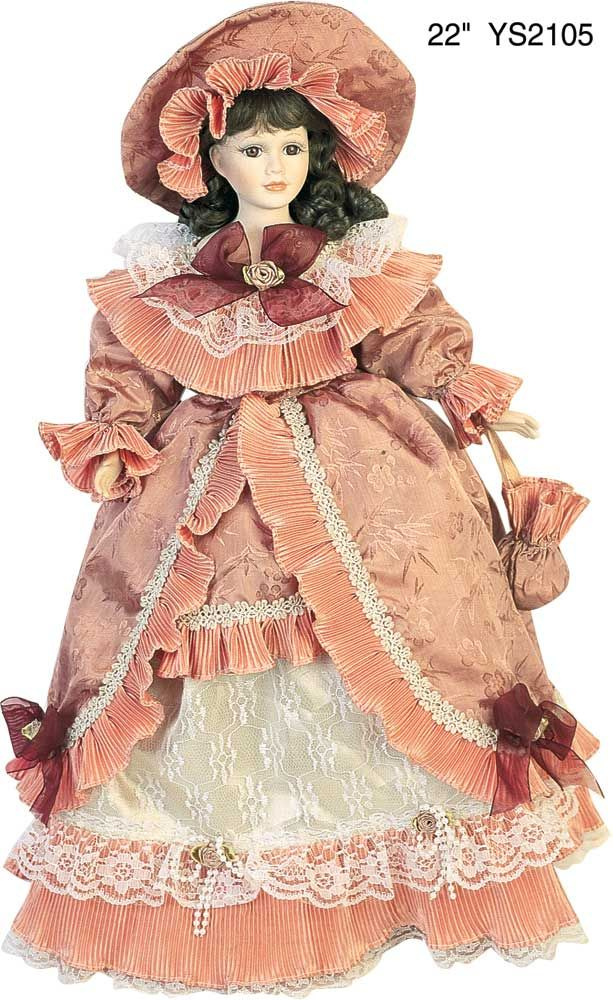 Victorian Collection Genuine Porcelain Doll | 22 red victoria porcelain doll danea porcelain doll this doll belongs ...