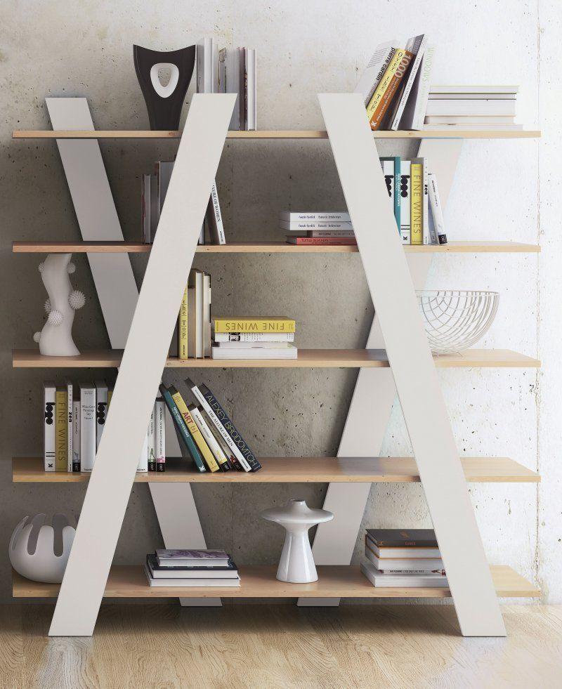 destockage - temahome wind bibliotheque meuble étagère bois blanc ... - Meuble Etagere Design