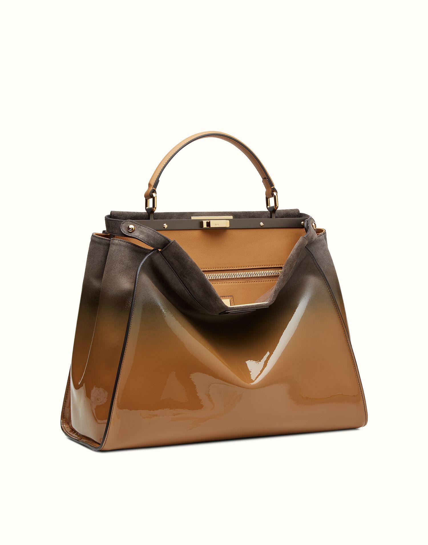 b07dfa76b1d FENDI   LARGE PEEKABOO patent leather handbag   Fendi   Pinterest ...
