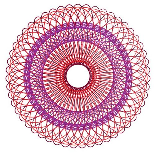 Think I'm gonna go to Toys R Us and buy me a Spirograph!  It was my most favorite Christmas gift ever as a child.  Spent hours and hours with my Spiry!