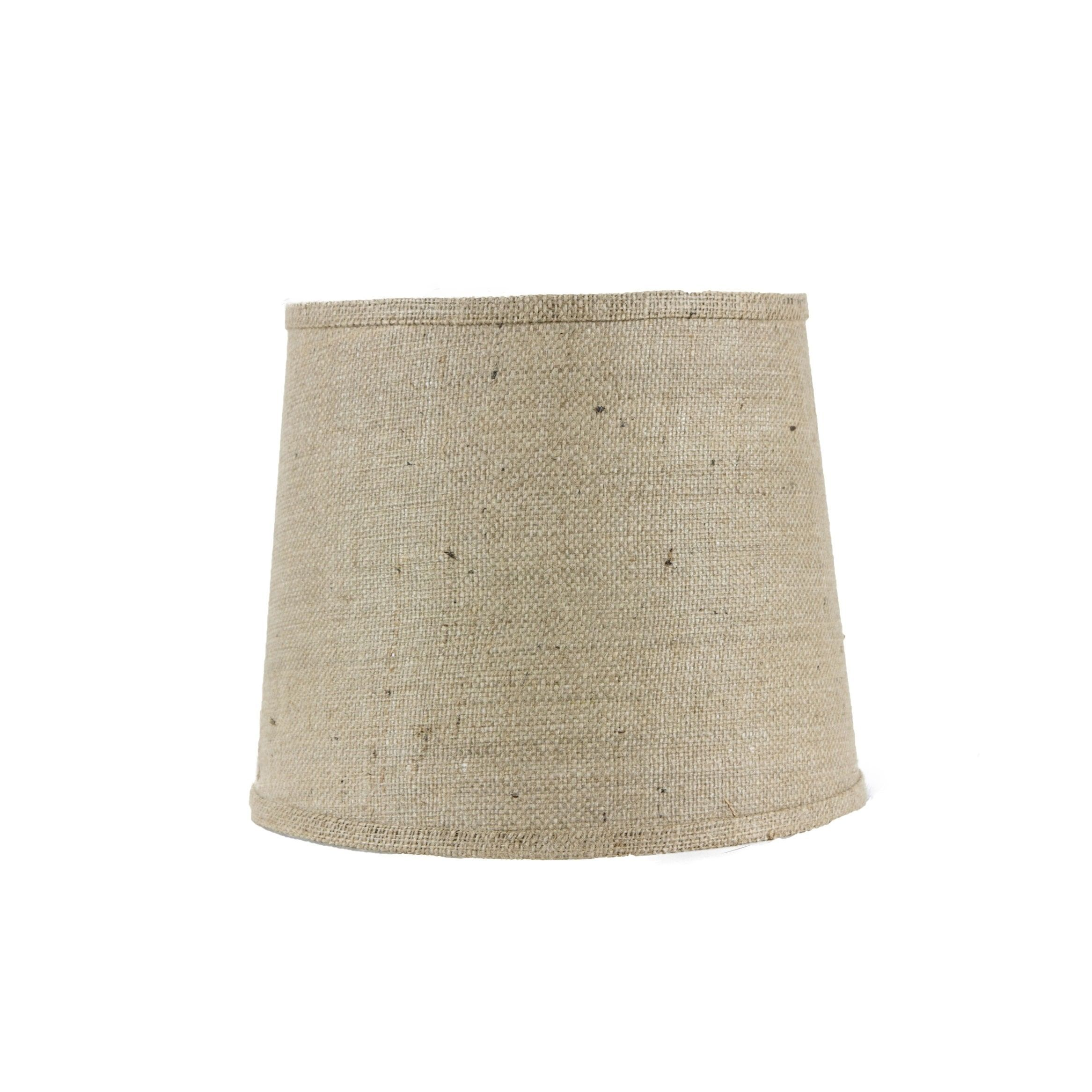 Somette natural burlap 12 inch drum lamp shade with washer brown somette natural burlap 12 inch drum lamp shade with washer brown fabric aloadofball Choice Image