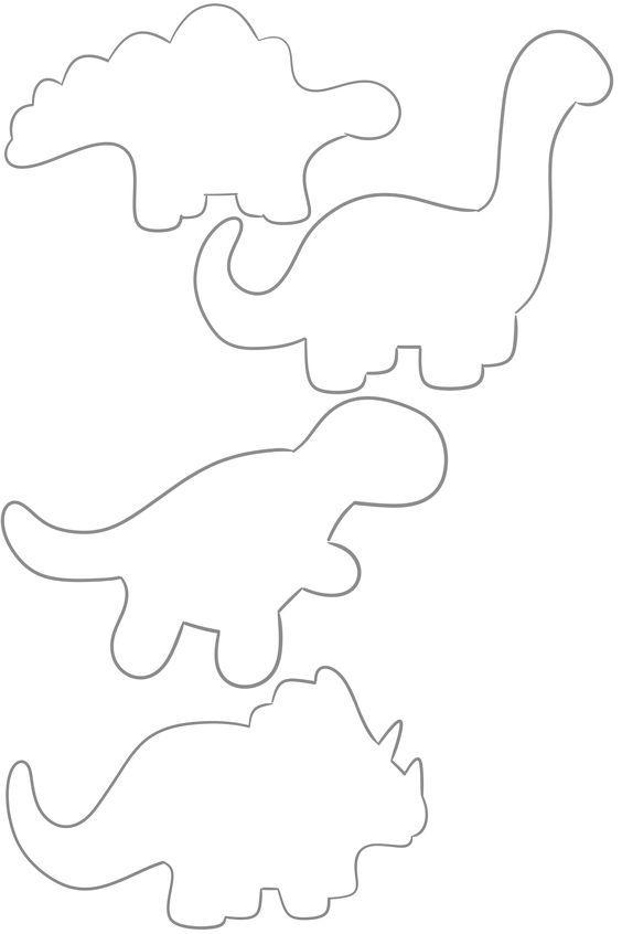 Dinosaur Outlines Stegosaurus Argentinosaurus Trex Triceratops