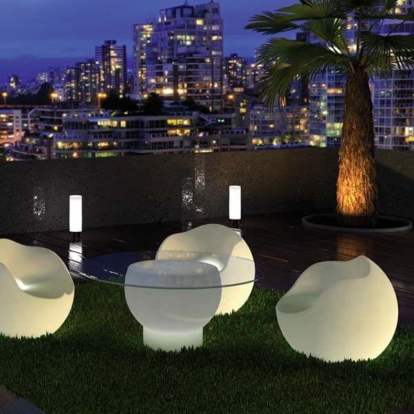 Sillón con luz NOVA (exterior) | Pinterest | Sillones, Terraza ...