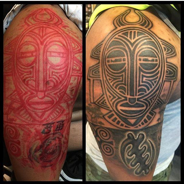 dope african tribal mask and adinkra from ryanhenrytattoo darkskinbodyart darkskinart. Black Bedroom Furniture Sets. Home Design Ideas
