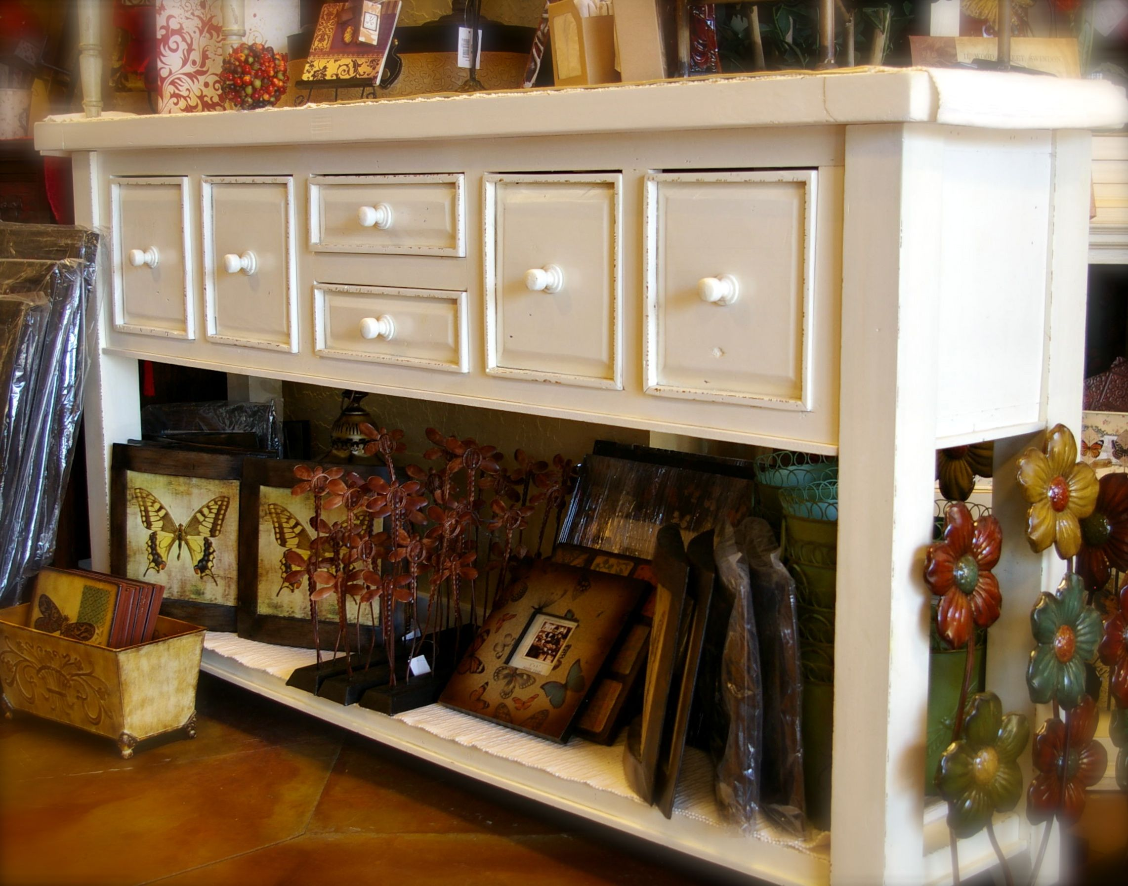 Entryway Table From Rod Works $349 · Shabby Chic Console ...