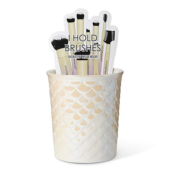 Tricoastal Design Ceramic Makeup Brush Holder