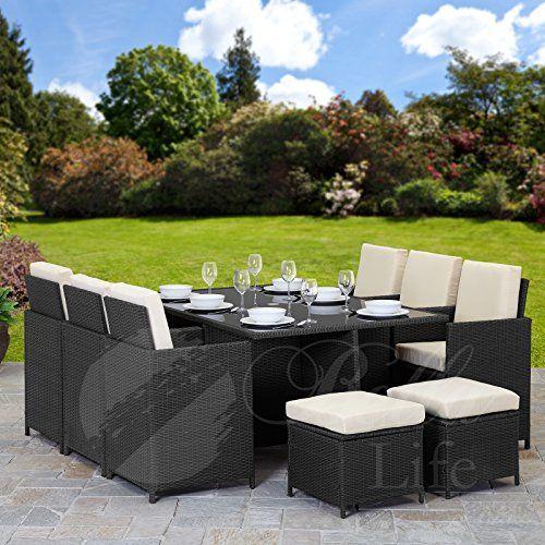 11 Piece 10 Seater Pe Rattan Cube Table Chair Stool Https Www Amazon Co Uk Dp B01i4udz3q Garden Furniture Terrace Furniture Rattan Outdoor Furniture