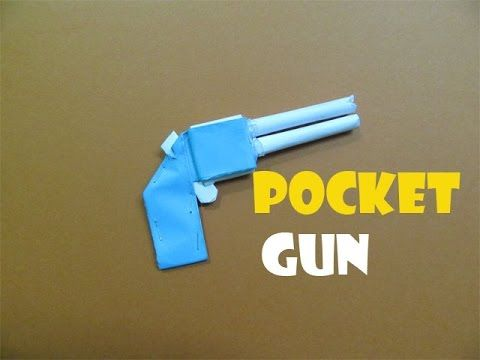 How To Make A Paper Pocket Mini Gun That Shoots Rubber Band Easy