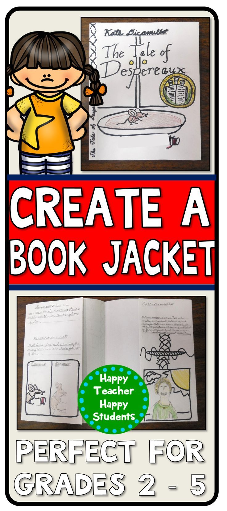 book jacket book report 3rd grade