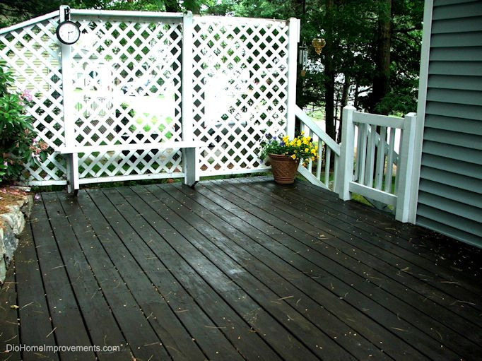 Olympic Maximum Stain - Deck Before & After | Stained decks ...