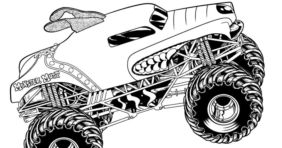 Monster Jam Coloring Pages Monster Truck Coloring Pages Truck Free