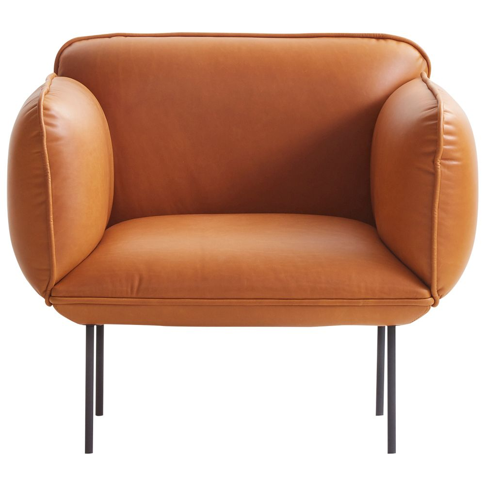 Natural Leather One Seater Armchair With Wooden Frame Invite A Touch Of Danish Design Into Your Home With T In 2020 Furniture Design Competition Ottoman Design Seater