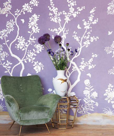 24 Modern Wallpaper Designs Guaranteed To Transform Your Space Home Wallpaper Purple Wallpaper Modern Wallpaper Designs
