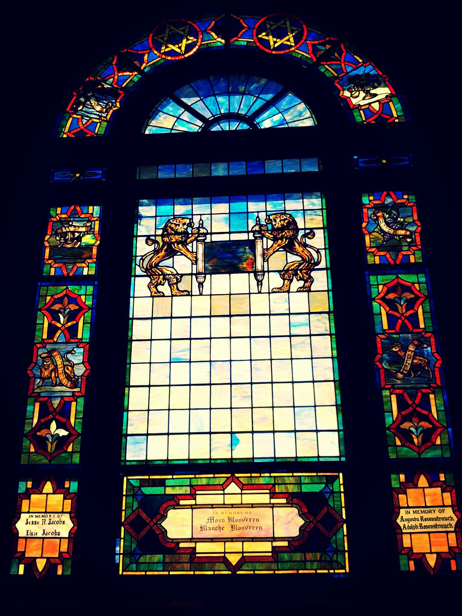 Free Synagogue Of Flushing Synagogue Flushing Stained Glass