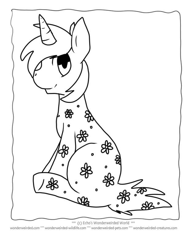 Colouring In Sheets Unicorn : Unicorn coloring page for kids free to print at www.wonderweirded