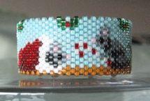 Christmas Mice Tea Light Cover by Diane Masters AKA Phoenix Wolf Creations