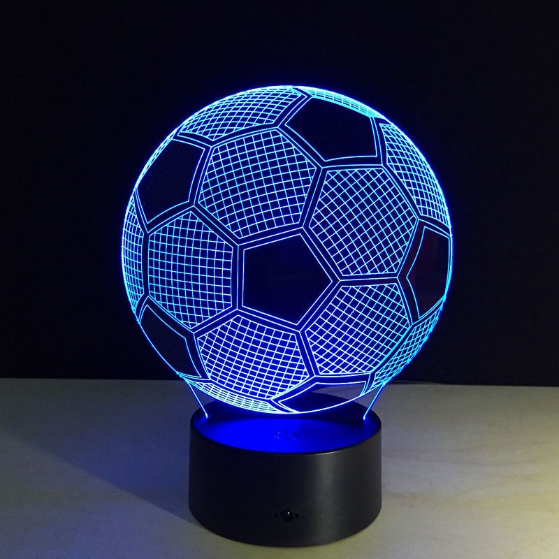 3d Football Soccer Table Lamp Decorative Lantern Acrylic Led Art Desk Light Gift Mood Lamps 3d Led Night Light Ball Lights
