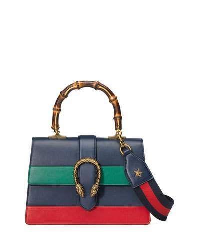 9fb10d45db35 Dionysus Small Web-Stripe Top-Handle Satchel Bag, Navy | Accessories ...