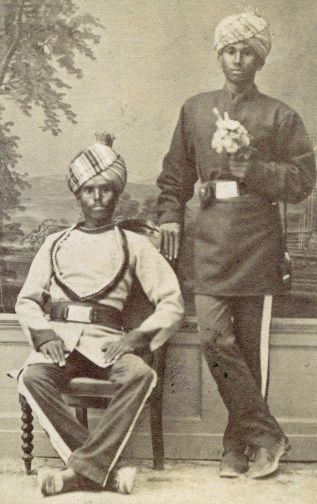 31 2 1ST BOMBAY LIGHT CAVALRY CARTES DE VISITE Malta 1878 British Indian
