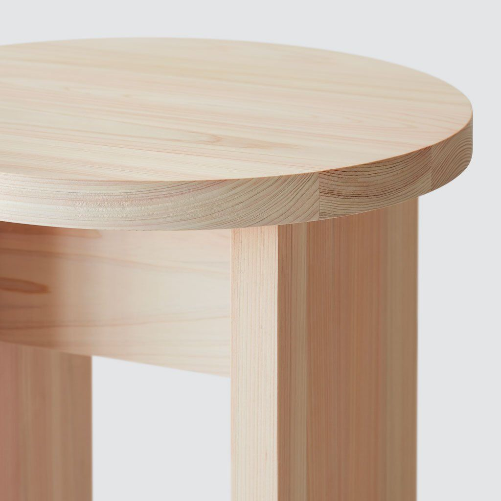 Hinoki Wood Round Side Table Minimalist Wood Accent Tables The Citizenry Furniture Side Table Wood Round Wood Side Table
