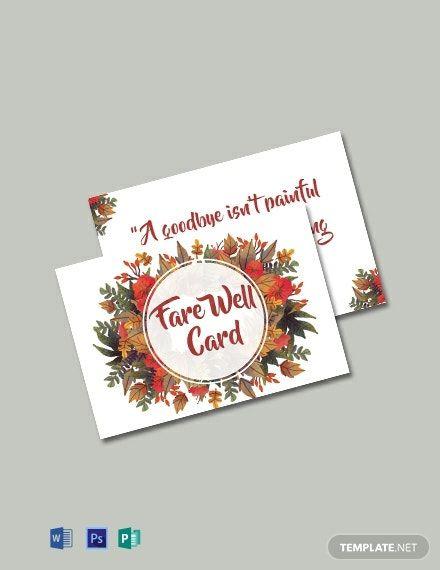 goodbye farewell invitation card template free pdf