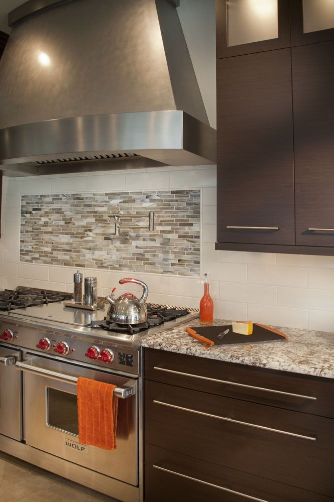 Modern Wenge Cabinets for a kitchen located in Vienna ...