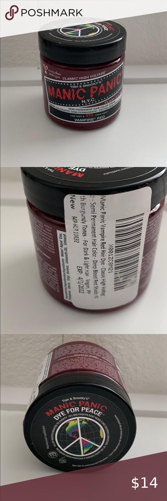 Manic Panic Semi Permanent Hair Dye In Vampire Red In 2020 Dyed Hair Semi Permanent Hair Dye Permanent Hair Dye