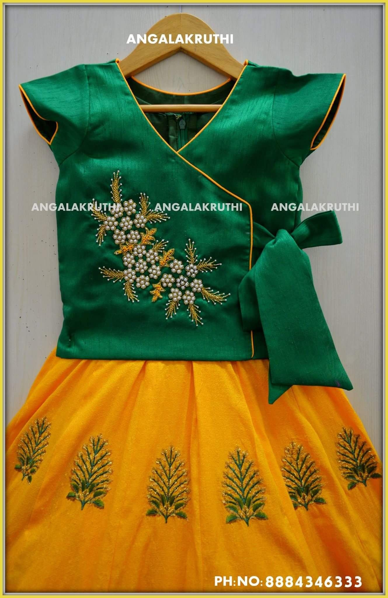Kids party wear designs by Angalakruthi boutique Bangalore Kids ...