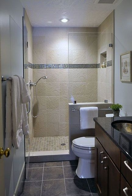 Creative Decor 39 Bathrooms With Half Walls Digsdigs Small Space Bathroom Small Bathroom Remodel Pictures Small Bathroom With Shower