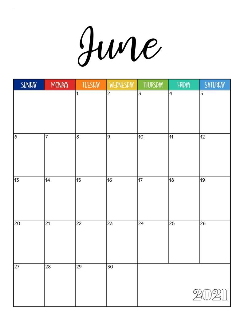 2021 Monthly Printable Calendar Warm Beachball Fun Mambi Etsy In 2020 Classic Planner Weekly Menu Planners Weekly Planner Inserts