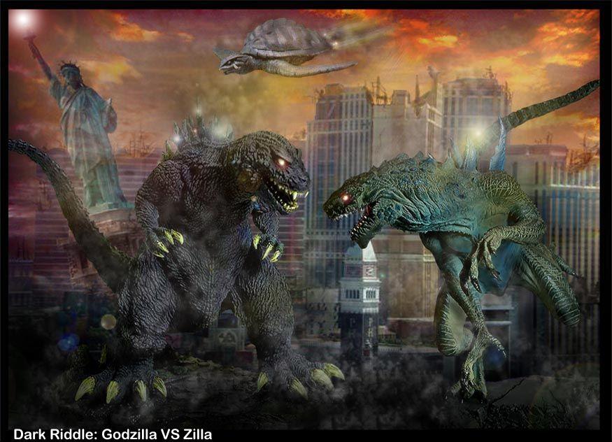 Godzilla Vs Zilla By Darkriddle1 On Deviantart Godzilla Godzilla Vs Kaiju Monsters