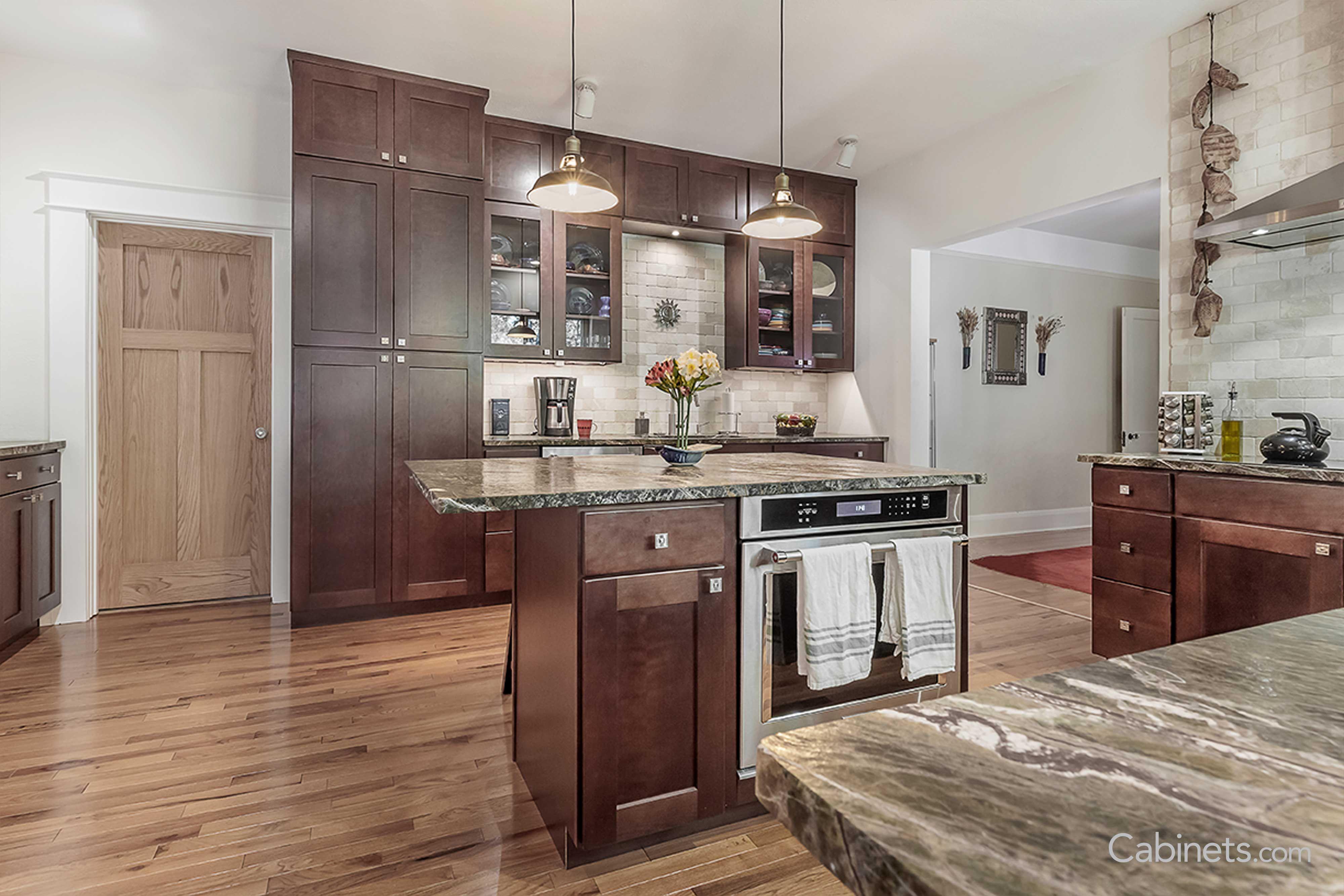 shaker cherry java kitchen renovation kitchen remodel kitchen on kitchen cabinets java id=67784