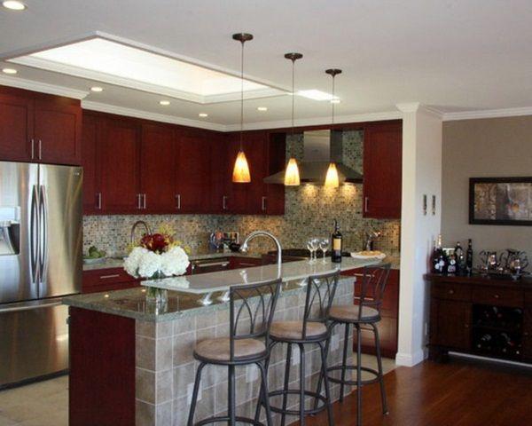 Overhead Kitchen Lighting Ideas Antique White Kitchen Cabinets