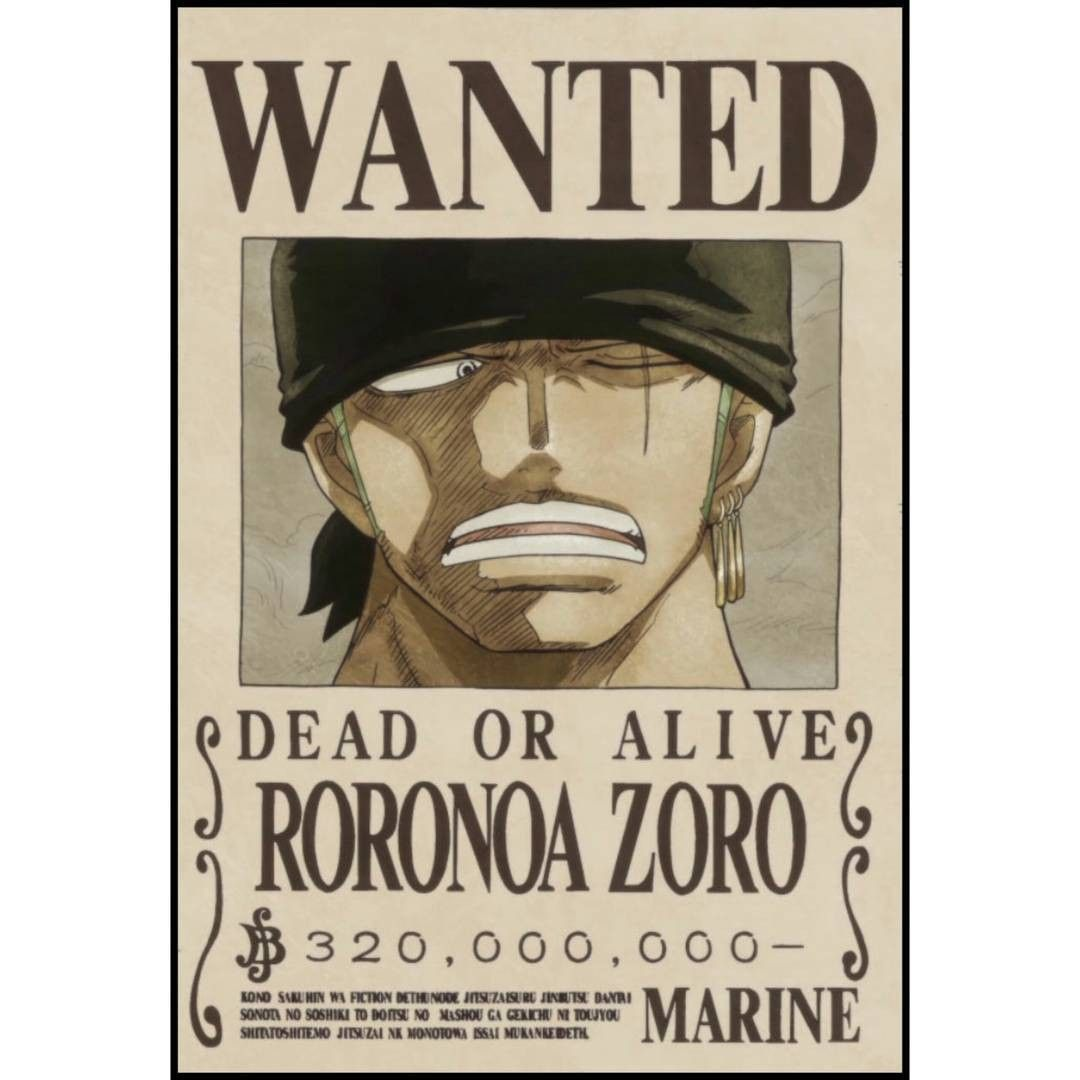 One Piece Wanted Poster Template Fresh Poster Wanted Zoro Useful