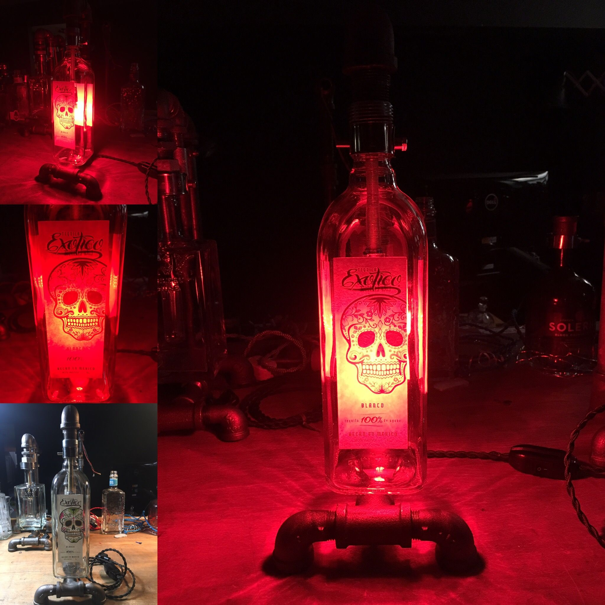 Lamp With Tequila Envy Designs Led Red Bulbwrench Exotico Bottle PkZilXwOTu