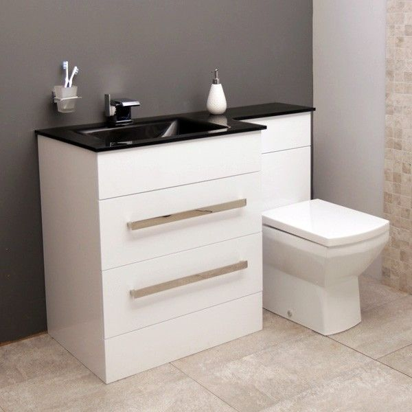 Vigo left hand combination unit bathrooms - Bathroom combination vanity units ...