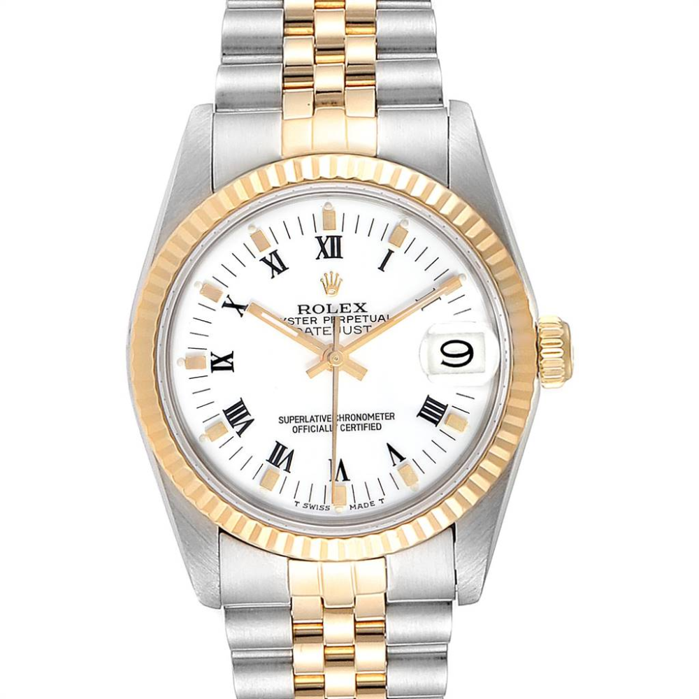 Rolex Datejust 31 Midsize Steel Yellow Gold White Dial Ladies Watch 68273 #rolexwatches