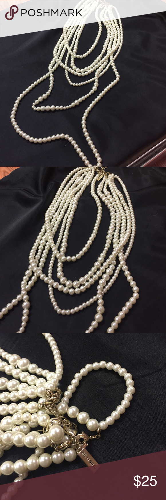 Limited Pearl strands. Heavy. Good quality The Limited Jewelry Necklaces